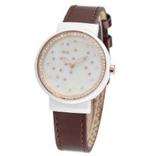 MINI new ceramic / Korean white ceramic / import leather strap Brown