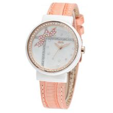 MINI new ceramic / Korean white ceramic / import leather strap Orange