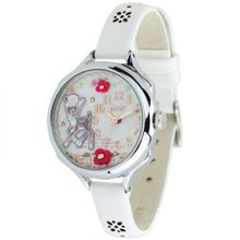 Mini Students waterproof leather fashion /deer White