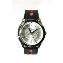 uMINI Mini Logo Black Leather Strap Gents Sports MI001B