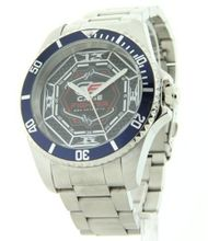 Cage Fighter Silver Stainless Steel Rotating Bezel Cf332013ssbl