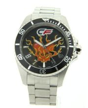 Cage Fighter Silver Stainless Steel Rotating Bezel Cf332018ssbk