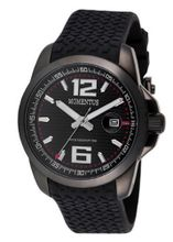 Momentus Black Rubber Band Black Ion Plated Bezel FS315E-04RB