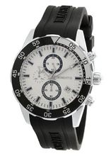 Momentus Black Rubber Band & White Dial Chronograph FS310S-02RB