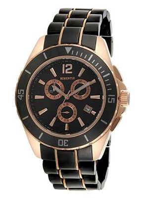 Momentus Red Gold Ion Plated Bezel Chronograph TM190R-04CR