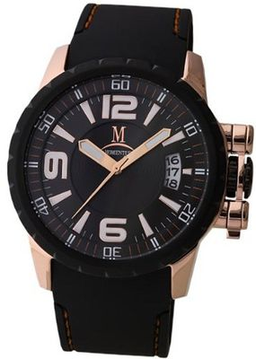 Momentus Stainless Steel Black Rubber Band Dial Black FS108R-04RB