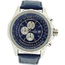 Mondex London Gents Chrono Effect Blue Dial & PU Strap Casual MLB462