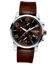 MENS MONTBLANC TIMEWALKER AUTOMATIC CHRONOGRAPH BROWN WATCH 106503