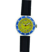 Monte Carlo Boys Blue Plastic Strap Yellow Dial Basic