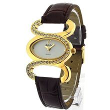Monte Carlo Brown Leatherette Ladies Stone Set Fashion