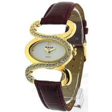 Monte Carlo Burgundy Leatherette Ladies Stone Set Fashion