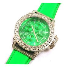 Monte Carlo Ladies Green Bling Diamante Fashion