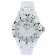 Monte Carlo White Plastic Strap Ladies Sports M2914