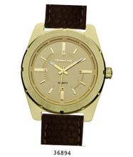 Brown Rubber Strap , Gold Case/Godl Dial