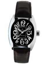 Montres De Luxe BI3 NER Bisanzio Stainless Steel Luminous Black Leather Date