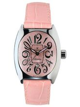 Montres De Luxe BI3 ROS Bisanzio Stainless Steel Luminous Light Pink Leather Date