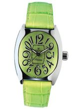 Montres De Luxe BI3 VER Bisanzio Stainless Steel Luminous Mint Green Leather Date