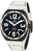 Montres De Luxe BK2501 Avio Aluminum Black PVD White Leather Cuff