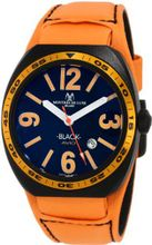 Montres De Luxe BK2502 Avio Aluminum Black PVD Orange Leather Cuff