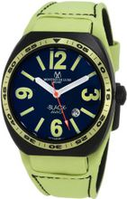 Montres De Luxe BK2503 Avio Aluminum Black PVD Green Leather Cuff