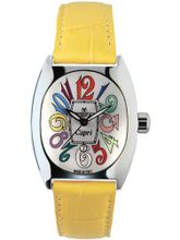 Montres De Luxe CP3 AC QZ BIA Capri Multicolored Stainless Steel Luminous Shiny Yellow Leather Date
