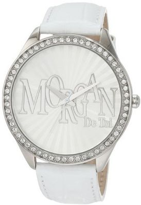 Morgan M1089W Over-Sized Case White Crystallized Bezel