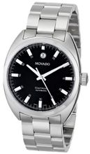 Movado 0606359 Datron Stainless-Steel Black Round Dial