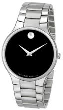 Movado 0606382 Serio Stainless-Steel Black Round Dial