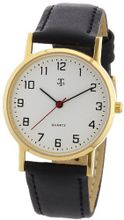 MTS Gents Stainless Steel Gold-Coloured Ion Plated Basic Line Nr. 1200.4519