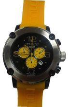 MULCO Chronograph yellow Band black dial MW2-9633-095