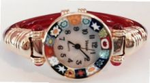 CA D'ORO Murano Millefiori Bangle - Clear Red Bracelet