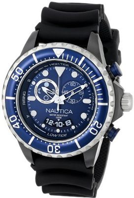 Nautica N32600G NMX 650 Tide Analog Display Japanese Quartz Black
