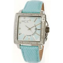 Nice Italy Dafne Ladies (White Dial; Powder Blue Band)