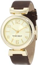 Nine West NW/1262CHBN Gold-Tone Brown Strap