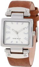 Nine West NW/1339SVHY Square Silver-Tone Honey Strap