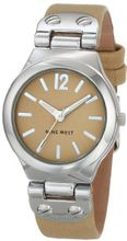 Nine West NW/1383CMCM Silver-Tone Cream Strap