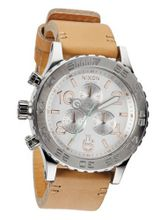 Nixon - 42-20 Chrono Leather - Natural / Silver