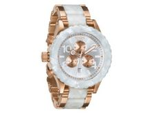 Nixon 42-20 Chrono Rose Gold/White Granite, One Size