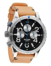 Nixon 48-20 Chrono Leather (Natural/Black) es