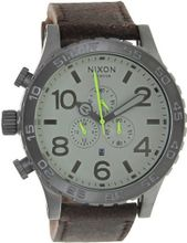Nixon 51-30 Chrono Leather - ( Gunmetal/Brown )