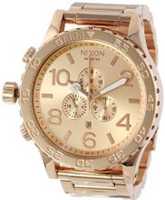 Nixon 51-30 Chrono Rose Gold Tone Solid Stainless Steel