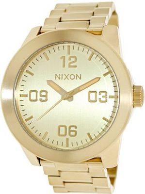 Nixon Corporal Sterling Silver One Size Gold