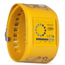 Nooka Unisex Digital with LCD Dial Digital Display and Yellow Plastic or Pu Strap zubzirc38jake