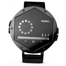 Nooka Unisex Quartz with LCD Dial Digital Display and Black Leather Strap ZEX NT