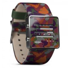 Nooka Unisex Quartz with LCD Dial Digital Display and Multicolour PU Strap ZenH Urban Camo