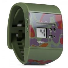 Nooka Unisex Quartz with LCD Dial Digital Display and Multicolour PU Strap Zub Zoo Camo 40