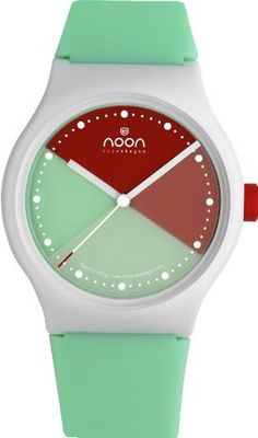 Noon Copenhagen Unisex 33-065DS5 Green and Orange Dial