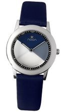 Noon Copenhagen Ladies Stainless - Blue/White - Black Strap - 36-015