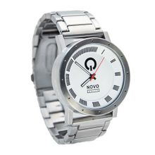 Novo the MAYHEM Silver and White Traditional White Dial Analog Big Face Sports