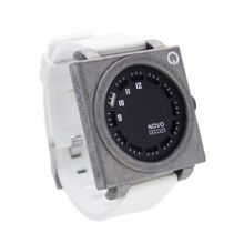 Novo the UNKNOWN RAW and White Square Face with White Poly Strap